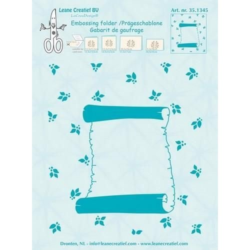 Leane Creatief 35.1345 - Embossing folder Roll of parchment