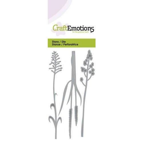 CraftEmotions 115633/0142 - CraftEmotions Die - bloeiend gras Card 5x10cm