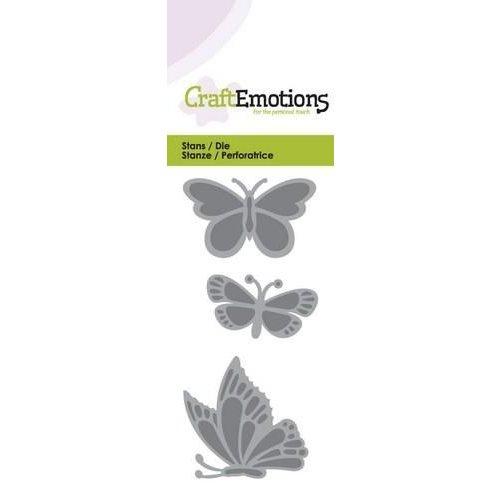 CraftEmotions 115633/0145 - CraftEmotions Die - vlinders Card 5x10cm