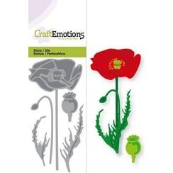 115633/0149 - CraftEmotions Die - klaproos Card 5x10cm