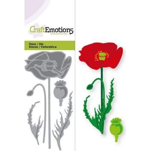 CraftEmotions 115633/0149 - CraftEmotions Die - klaproos Card 5x10cm