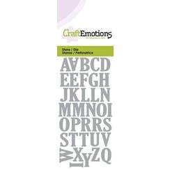 115633/0163 - CraftEmotions Die - alfabet hoofdletters Card 5x10cm