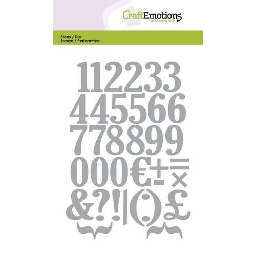 CraftEmotions 115633/0503 - CraftEmotions Die - cijfers Card 10,5x14,8cm