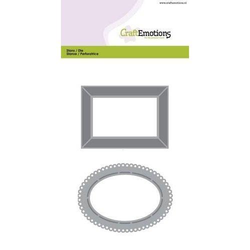 CraftEmotions 115633/0505 - CraftEmotions Die - lijsten 2 Card 10,5x14,8cm