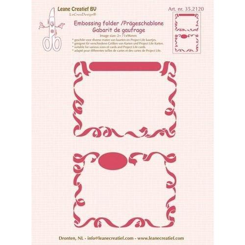 Leane Creatief 35.2120 - Embossing folder 2 x Little Frames