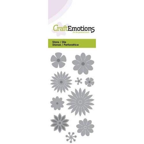 CraftEmotions 115633/0168 - CraftEmotions Die - bloemenmix Card 5x10cm