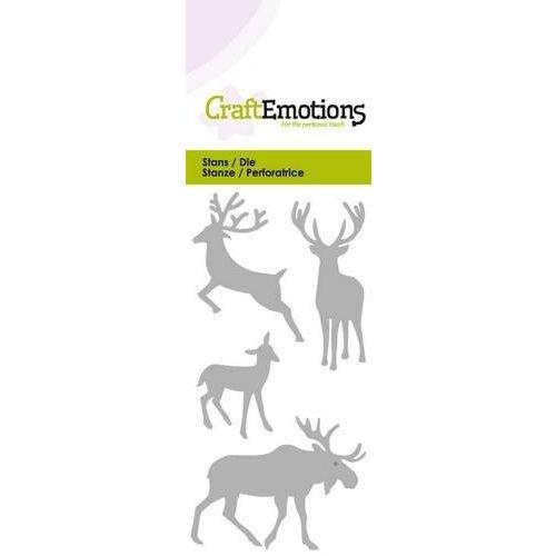 CraftEmotions 115633/0173 - CraftEmotions Die - eland hert ree Card 5x10cm
