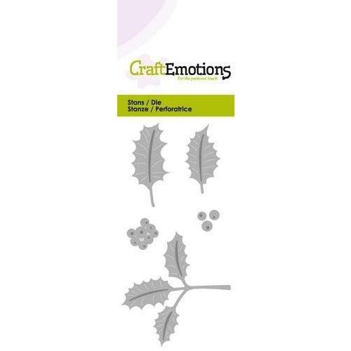 CraftEmotions 115633/0174 - CraftEmotions Die - hulstbladeren Card 5x10cm