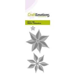 115633/0178 - CraftEmotions Die - bloem kerstster 3D Card 5x10cm