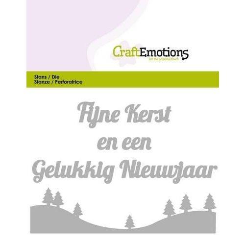CraftEmotions 115633/0302 - CraftEmotions Die Tekst - Fijne Kerst (NL) Card 11x9cm