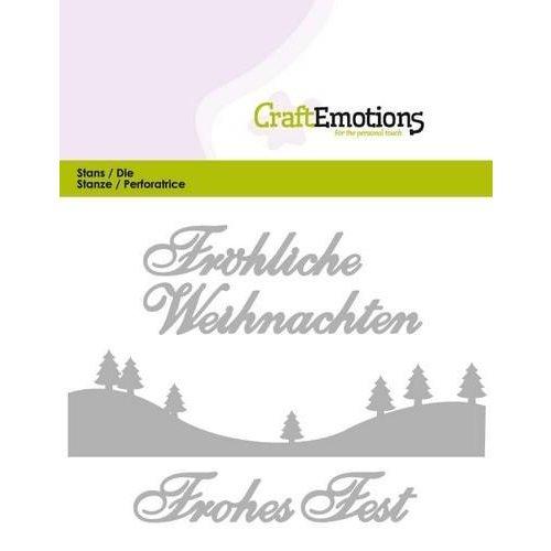 CraftEmotions 115633/0405 - CraftEmotions Die Text - Fröhliche Weihnachten (DE) Card 11x9cm