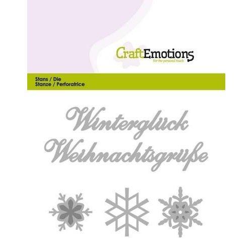 CraftEmotions 115633/0407 - CraftEmotions Die Text - Winterglück (DE) Card 11x9cm