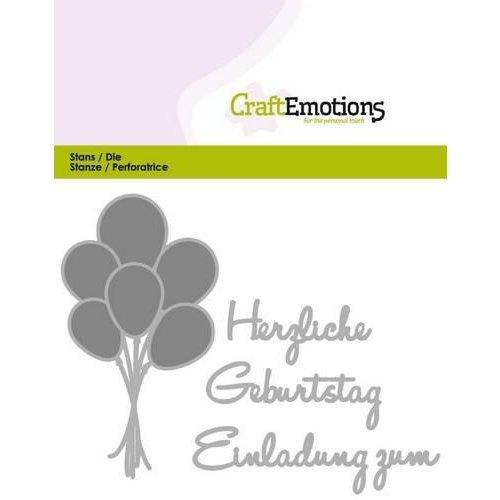 CraftEmotions 115633/0412 - CraftEmotions Die Text - Herzlichen Geburtstag (DE) Card 11x9cm
