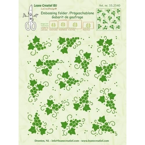 Leane Creatief 35.2540 - Embossing folder background Grapes