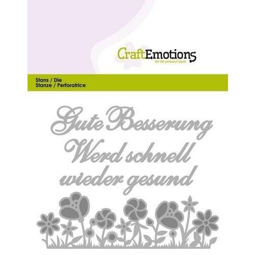 CraftEmotions 115633/0409 - CraftEmotions Die Tekst - Gute Besserung (DE) Card 11x9cm