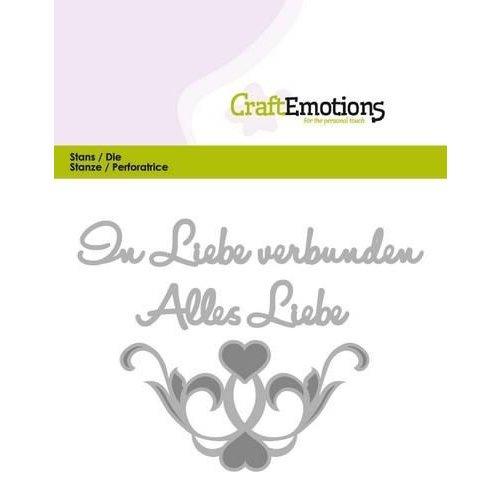 CraftEmotions 115633/0416 - CraftEmotions Die Tekst - Alles Liebe (DE) Card 11x9cm