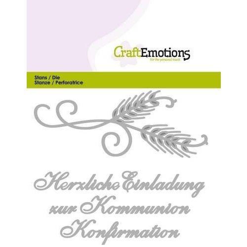 CraftEmotions 115633/0419 - CraftEmotions Die Tekst - Einladung Kommunion (DE) Card 11x9cm