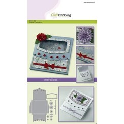 115633/1503 - CraftEmotions Die - merci box Card A5 box 80x80x10 mm