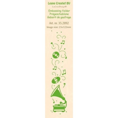 Leane Creatief 35.2892 - LeCrea - Border embossing folder Gramophone 92 23x122mm