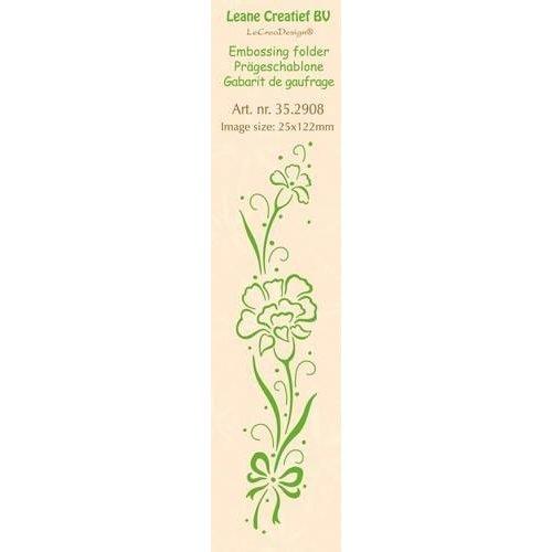 Leane Creatief 35.2908 - LeCrea - Border embossing folder Carnation 08 25x122mm