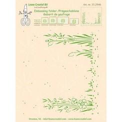 35.2946 - Embossing folder background Garden