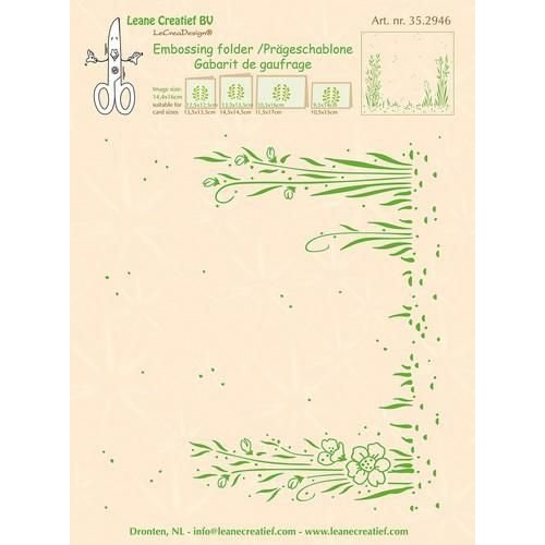 Leane Creatief 35.2946 - Embossing folder background Garden