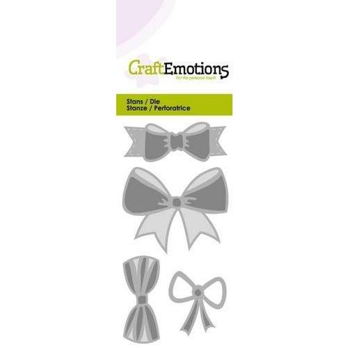 CraftEmotions 115633/0185 - CraftEmotions Die - Strikjes Card 5x10cm