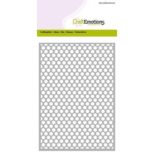 CraftEmotions 115633/0603 - CraftEmotions Die - Cutting Grid - dots rond Card 10,5x14,8cm