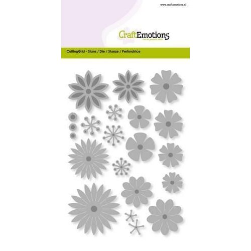 CraftEmotions 115633/0510 - CraftEmotions Die - bloemenmix large Card 10,5x14,8cm