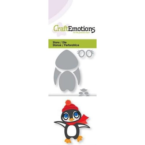 CraftEmotions 115633/0195 - CraftEmotions Die - pinguin 3D Card 5x10cm