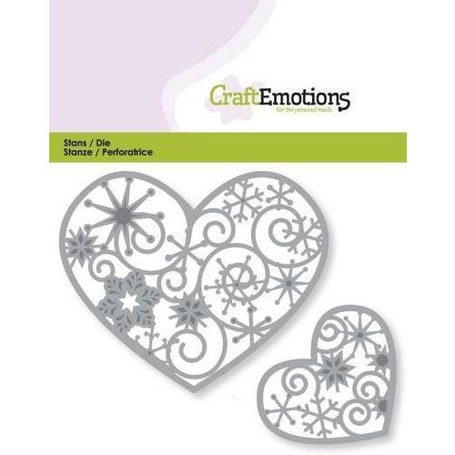 CraftEmotions 115633/0351 - CraftEmotions Die - harten met kristalornament 2x Card 11x9cm