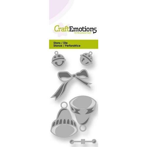 CraftEmotions 115633/0192 - CraftEmotions Die - klokjes en belletjes 50x100 Card 5x10cm