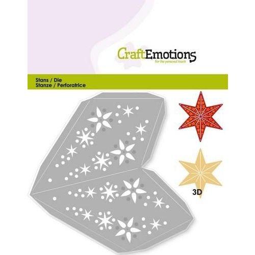 CraftEmotions 115633/0204 - CraftEmotions Die - kerstversiering ster 3D 15,5 cm