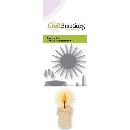 CraftEmotions 115633/0199 - CraftEmotions Die - brandende kaars 3D