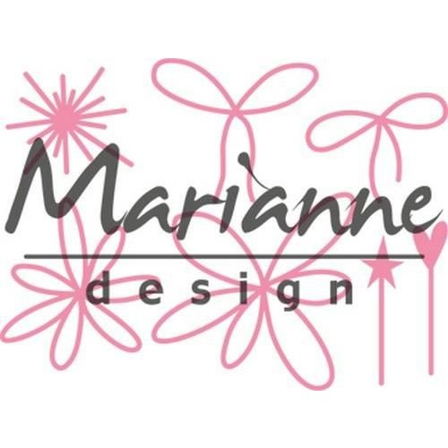 Marianne Design COL1441 - Collectable Giftwrapping - Karin's pins & bows 41