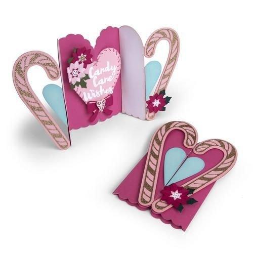 Sizzix 662450 - Sizzix Thinlits Die Set 12PK Card Candy Cane Fold-a-Long 0Jen Long