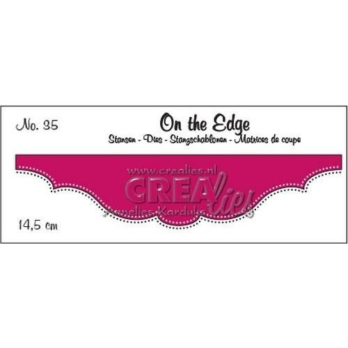 Crealies CLOTE35 - Crealies On the edge die stans no 35 35 / 14,5 cm