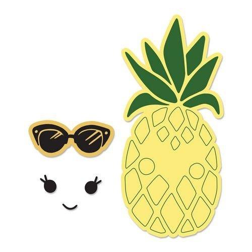 Sizzix 662933 - Sizzix Framelits Die Set 2PK w/Stamps - Sunny Pineapple 3 Katelyn Lizardi
