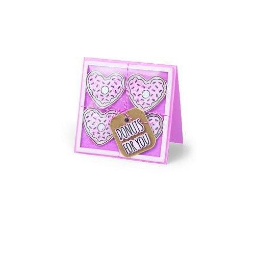 Sizzix 662680 - Sizzix Framelits Die Set 6PK w/stamps Donuts for You 0  Jen Long