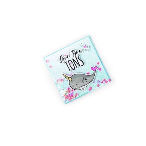 Sizzix 662681 - Sizzix Framelits Die Set 4PK w/stamps Love You Tons 1  Jen Long