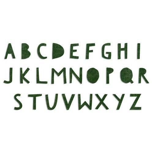 Sizzix 662707 - Sizzix Bigz XL Alphabet Die - Cutout Upper 7 Tim Holtz