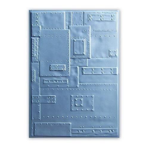 Sizzix 662717 - Sizzix 3-D  Embossing Folder - Rivets 7 Tim Holtz