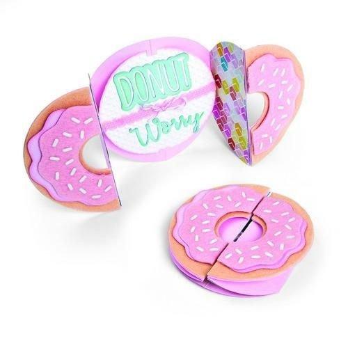 Sizzix 662725 - Sizzix Thinlits Die Set 9PK Card Donut Fold-a-Long 5 Jen Long