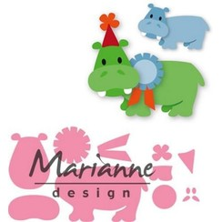 COL1450 - Collectable Eline's happy hippo 50 98x67 mm