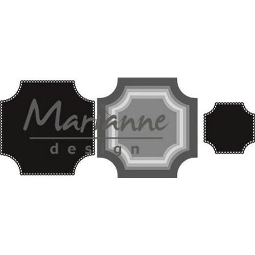 Marianne Design CR1438 - Craftable Basic vierkant 8 56x56 - 110x110mm