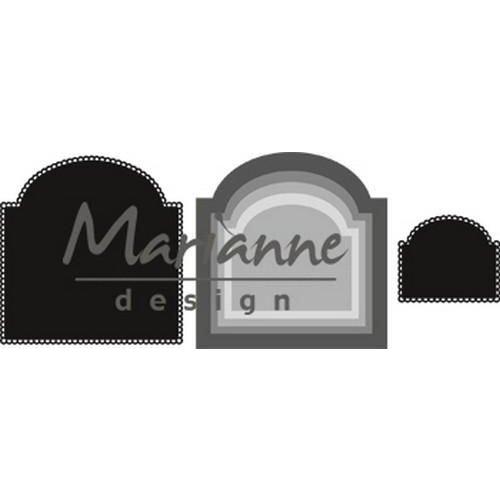 Marianne Design CR1439 - Craftable Basic boog 9 63x46 - 101x104mm