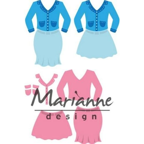 Marianne Design COL1453 - Collectable Lady's suit 53 70x73 mm