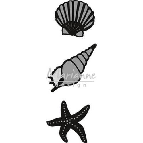 Marianne Design CR1440 - Craftable zee schelpen 0 31x29-38x38 mm