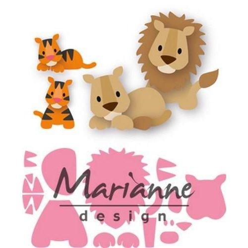 Marianne Design COL1455 - Marianne Design Collectable Eline's lion/tiger