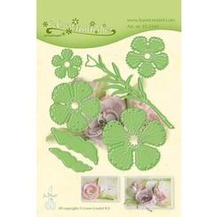 45.5343 - Lea'bilitie Multi die flower 015 Carnation snij en embossing mal